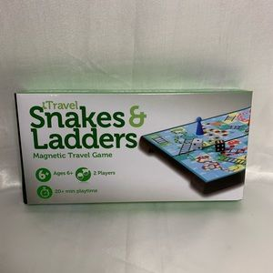 Brand New! Snakes & Ladders Magnetic Travel Game